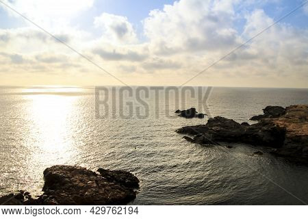 Beautiful View Of The Coast Of Cabo De Palos With Its Cliffs And Coves At Dawn In Summer