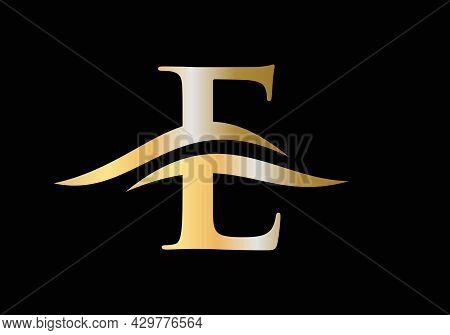 Initial E Letter Business Logo. E Logo Design. E Logo For Luxury Branding