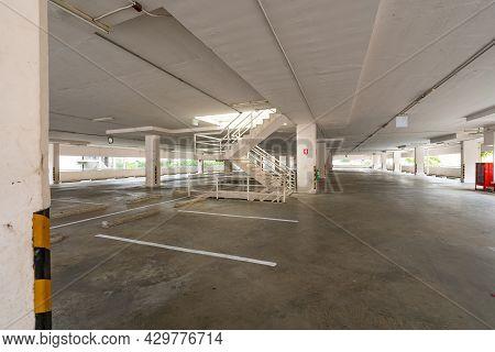 Parking Garage Department Store Interior Empty Parking Lot Or Garage Interior Business Building Offi