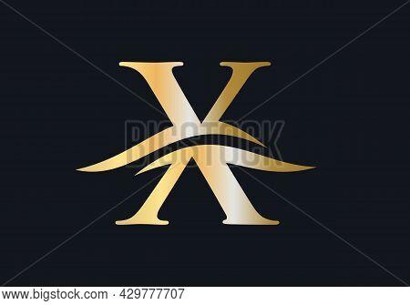 Modern X Logo For Luxury Branding. Initial X Letter Business Logo Design Vector