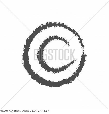 Copyright Brush Icon. Patent, Legal , Intellectual Property Sign. Authorship Protection. Vector Illu