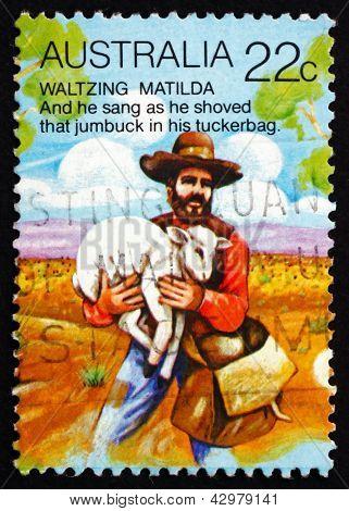 Postage Stamp Australia 1980 Stealing Sheep