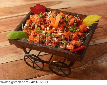 Veg Crispy Is Batter Fried Vegetables Tossed With Chinese Sauce Tastes Tangy. It's A Popular Starter