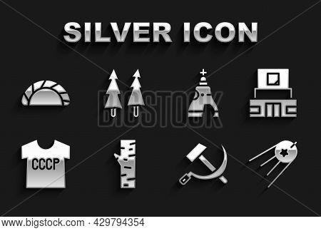 Set Birch Tree, Mausoleum Of Lenin, Satellite, Hammer And Sickle Ussr, T-shirt, The Tsar Bell, Dumpl