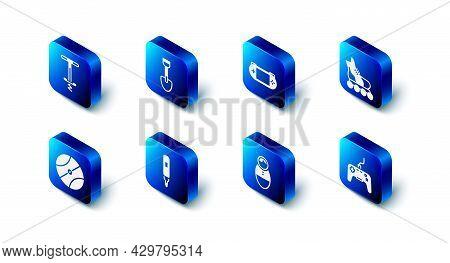 Set Shovel Toy, Portable Video Game Console, Roller Skate, Gamepad, Tumbler Doll, Marker Pen, Basket