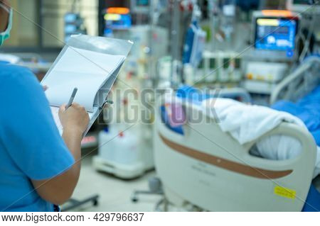 Nurses Are Checking The Function Of The Hemodialysis Machine Before Use In Patients With Chronic Ren