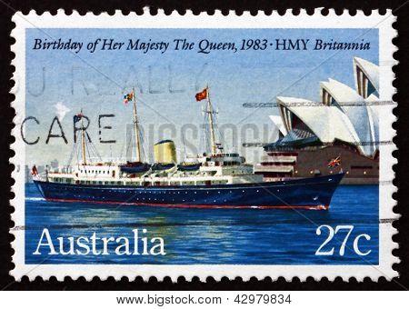 Postage Stamp Australia 1983 Britannia, Her Mayesty Yacht