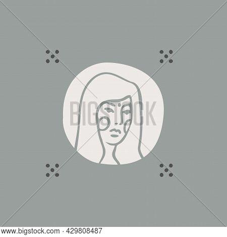 Modern Feminine Portrait Women A Logotype A Vector