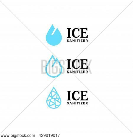 Unique And Creative Logo About Sanitizer And Iceberg Eps 10, Vector.