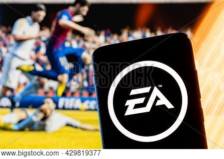Kazan, Russia - August 14, 2021:  Electronic Arts Inc. Is An American Video Game Company. Electronic