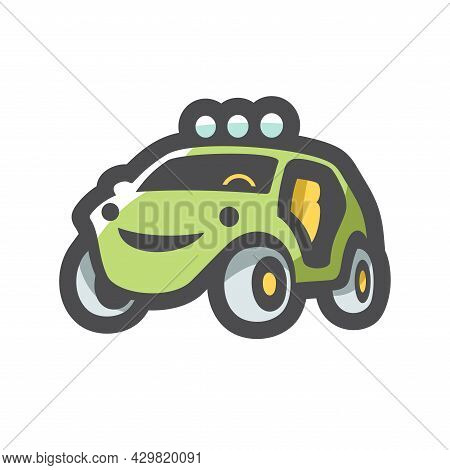 Buggy Extreme Car Vector Icon Cartoon Illustration