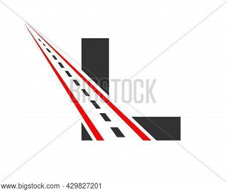 Transport Logo With L Letter Concept. L Letter Road Logo Design