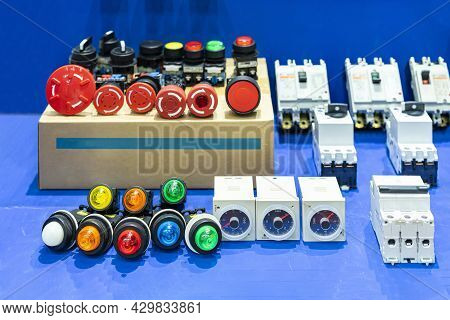 Various Color Signal Lamp Indicator Or Pilot Lamp And Timer With Push Button Switch For Electric Pow