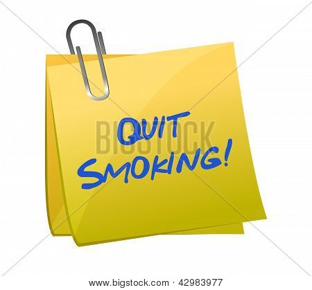 Quit Smoking Post It