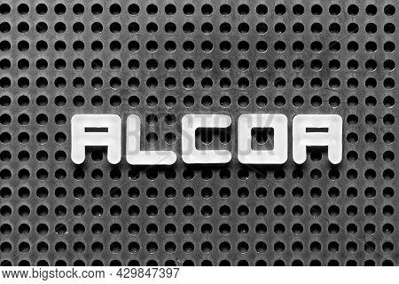 White Alphabet Letter In Word Alcoa (abbreviation Of Attributable, Legible, Contemporaneous, Origina