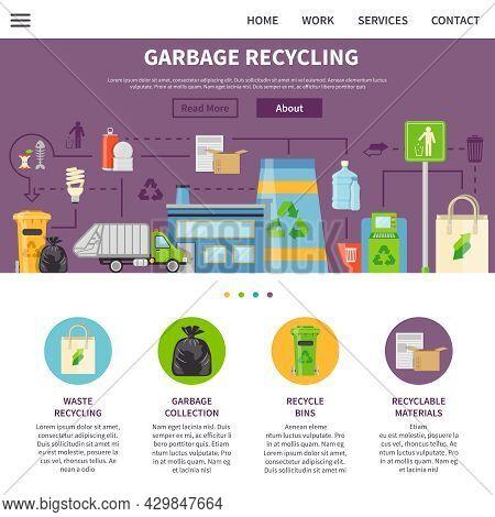 Garbage Recycling Symbols.garbage Recycling  Presentation.  Recycling Flat Elements.garbage Recyclin