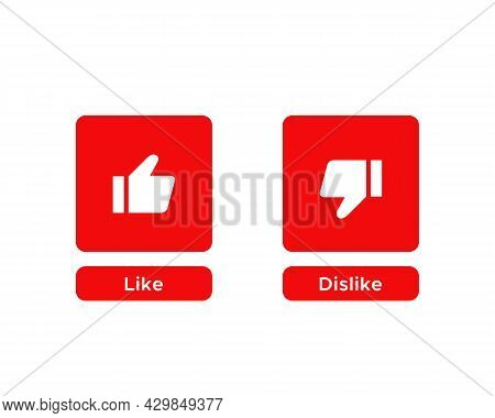 Like and Dislike Button Icon Vector Isolated on White Background