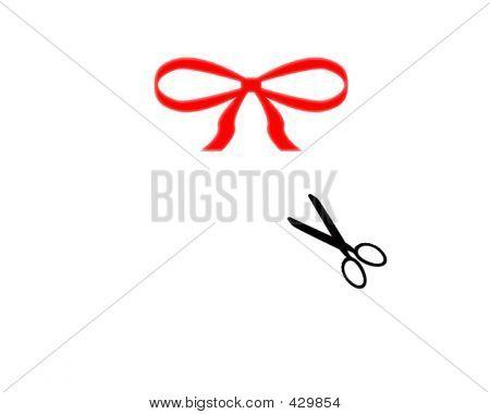 Ribbon And Scissor