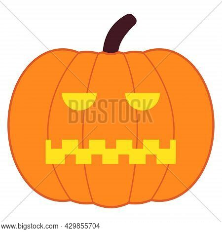 Halloween Colorful Pampkin Logo.color Pumpkin Icon On White Background. Vector Pumpkin Illustration.