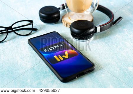 Popular Streaming Service Sony Liv On Mobile Smartphone Which Has Popular Indian Shows Delivered Ott