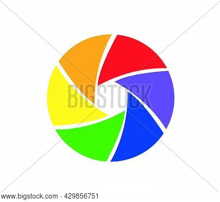 Camera Objective Icon Vector On White Background