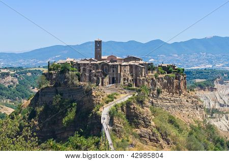 Panoramic view of Civita di Bagnoregio. Lazio. Italy.