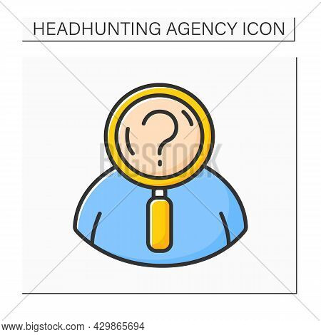 Defining Candidate Color Icon.ideal Candidate. Human Resource Professionals Define Candidate To Attr