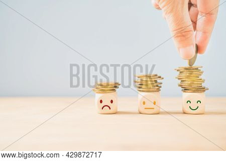Hand Placing Golden Coin On The Highest Stack Of Coins, Saving Money, Saving For Retirement, Retirem