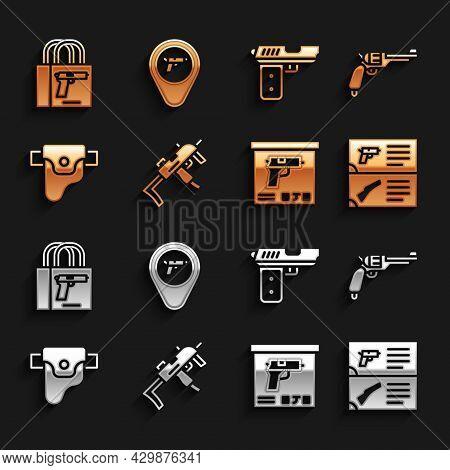 Set Mp9i Submachine Gun, Revolver, Weapon Catalog, Military Ammunition Box, Gun Holster, Pistol Or,