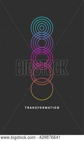 Change Icon, Transformation, Evolution, Development, Coaching Color Logo