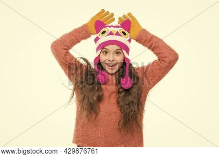 Cold Winter Weather. Warm Clothes And Accessory Fashion For Kids. Happy Childhood Activity. Little G