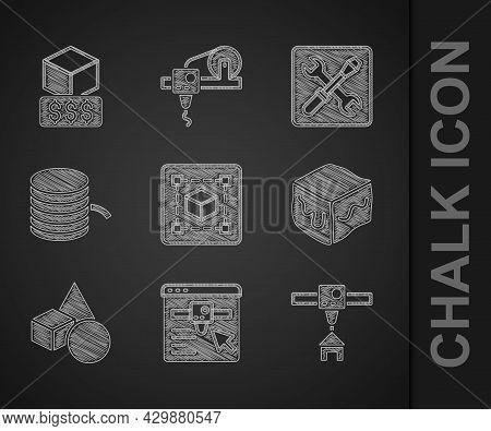 Set Geometric Figure Cube, 3d Printer Setting, House, Isometric Cube, Basic Geometric Shapes, Filame