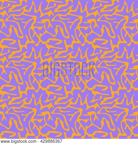 Vector Chaotic Abstract Ragged Acid Seamless Texture