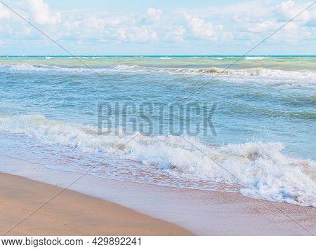 Waves On The Black Sea Coast In Summer