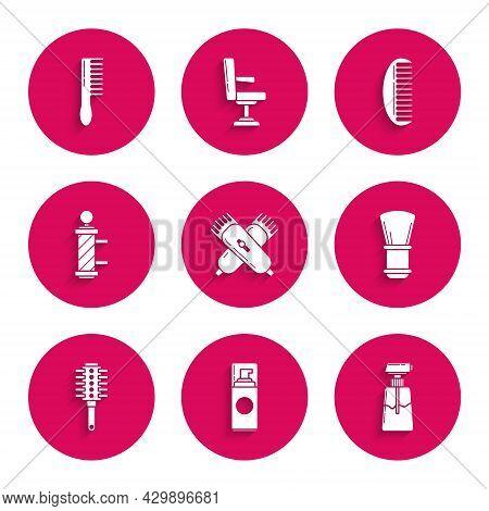 Set Crossed Electrical Hair Clipper Or Shaver, Shaving Gel Foam, Cream Lotion Cosmetic Tube, Brush,