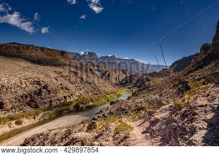Overlooking The Rio Grande From The Marofa Vega Trail In Big Bend National Park