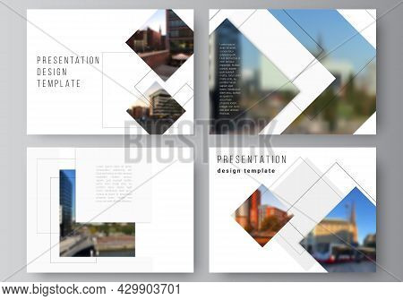 Vector Layout Of The Presentation Slides Design Business Templates, Multipurpose Template With Geome