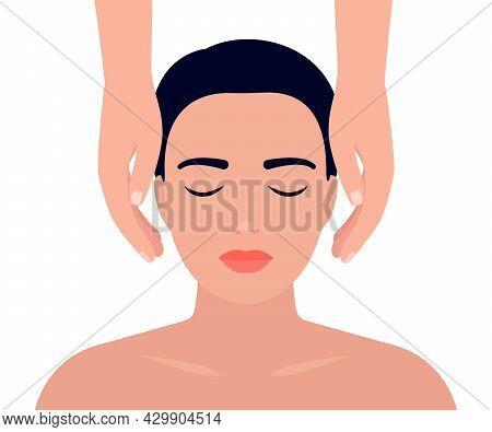 Woman Having Reiki Healing Alternative Treatment. Recovery Holistic Human Energy. Alternative Medici