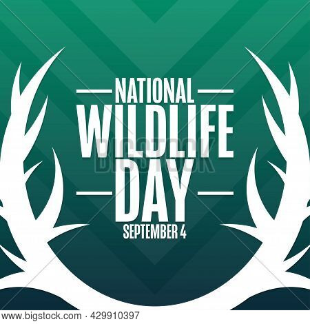National Wildlife Day. September 4. Holiday Concept. Template For Background, Banner, Card, Poster W