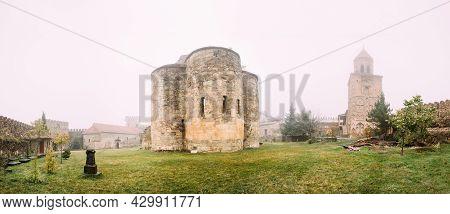Ninotsminda, Kakheti Region, Georgia. Ruins Of Old Church Monastery Of Saint Nino, Ninotsminda Near
