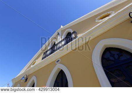 Porto Seguro, Bahia, Brazil - July 18, 2021: Houses And Characteristic Architecture In The Historic