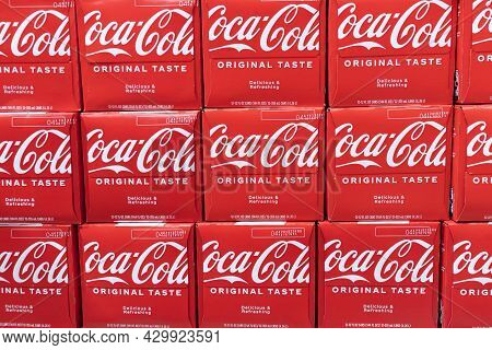 Indianapolis - Circa August 2021: Coca Cola Display. Coke Products Are Among The Best Selling Soda P