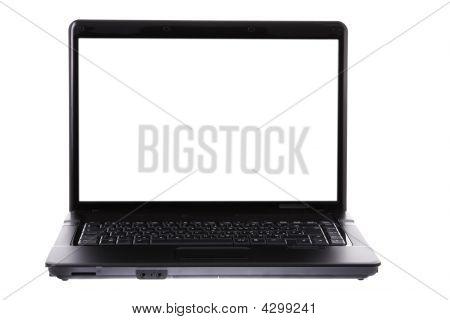 Laptop On White