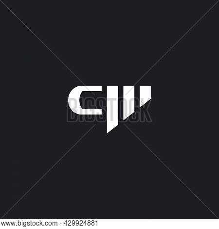 Letter Cm Geometric Stripes Design Geometric Logo Vector