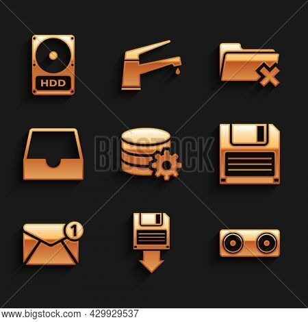 Set Setting Database Server, Floppy Disk Backup, Stereo Speaker, , New, Email Incoming Message And S