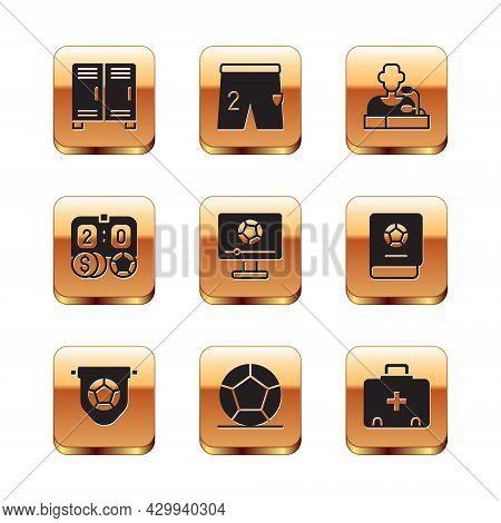Set Locker Or Changing Room, Football Flag Pennant, Soccer Football, Match On Tv, Betting Money, Pla