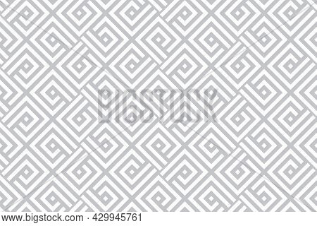 Abstract Geometric Pattern. A Seamless Vector Background. White And Gray Ornament. Graphic Modern Pa