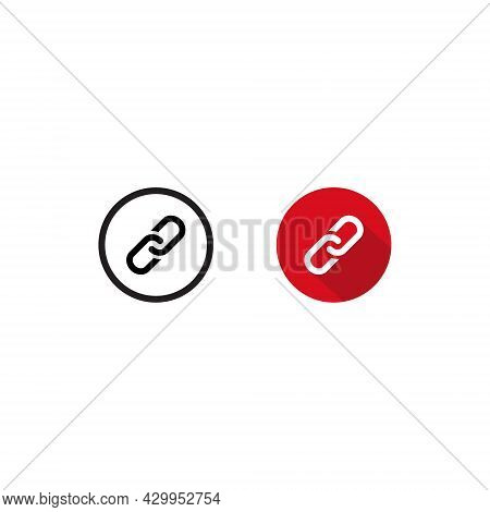 Chain, Url Icon Vector Isolated On White Background