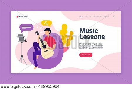 Music Web Lessons. Course In Music Art With Online Teacher. Setting Up And Using Melodic Instrument.