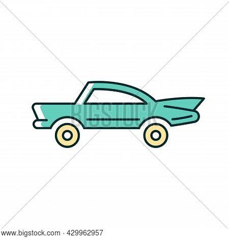 Classic Car Rgb Color Icon. Nostalgic Value. Vintage Automobile. Original Production Model. Antique